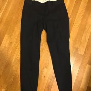 Jcrew slim navy pants with side zip-ankle length